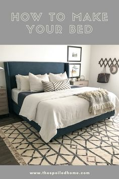 Home Decor Bedroom How to make your bed: A Step by Step Guide.Home Decor Bedroom How to make your bed: A Step by Step Guide Cozy Bedroom, Home Decor Bedroom, Chic Bedroom Ideas, Adult Bedroom Ideas, Glam Bedroom, Decor Room, Bedroom Themes, Bedroom Colors, Bedroom Apartment