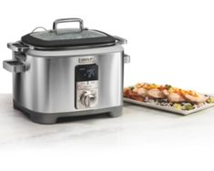 Wolf Gourmet Multi-Function Cooker - Silver Cooking Appliances, Small Kitchen Appliances, Kitchen Cabinets, Kitchen Dining, Fun Cooking, Cooking Time, Slow Cooking, Triple Slow Cooker, Best Cooker