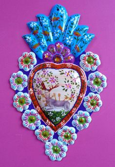 ~Frida Kahlo Milagro-Mexican folk art~