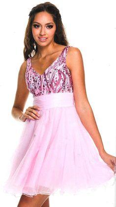 Prom Dress<BR>Sweet 16 Dress under $100<BR>2830<BR>Short V neckline tulle dress  back zipper bodice wide waist band