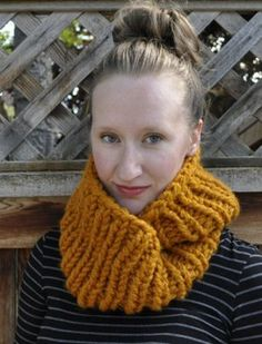 Two Hour Cowl - 2 skeins of wool ease thick & quick & 17 circular needles...