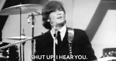 (John Lennon) he tells us the truth because he cares about us