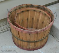 I have had these bushel baskets in my garage for a long time. I didn't want to get rid of them because I thought I could do something with them. This year, they…
