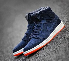 Air Jordan I-Dark Blue-White-Orange (2014) Preview