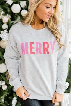 Cute Christmas Outfits, Christmas Shirts, Christmas Clothes, Christmas Morning, Holiday Outfits, Christmas 2019, Christmas Christmas, Grey Sweatshirt, Graphic Sweatshirt