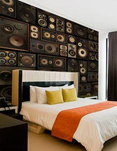 Speaker Boxes Custom Mural | Custom mural wallpaper