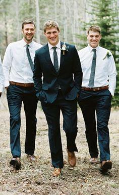 Let the groomsmen go jacket free!   Groomsmen Attire