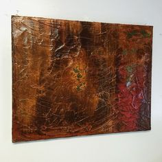 Abstract rust, copper, and patina using Modern Masters Metal Effects. Deep South Vintage of Fairmont, WV.