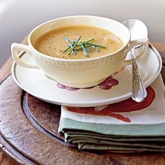 Top-Rated Butternut Squash Recipes | Roasted Butternut Squash and Shallot Soup | CookingLight.com