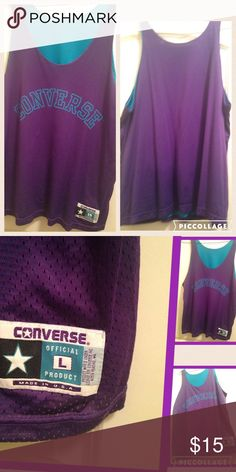 Converse vintage jersey size large This jersey is a size large in good condition Converse Tops Tees - Long Sleeve