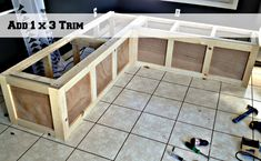 use 1x3s to trim a corner banquette bench, Pinterior Designer featured on Remodelaholic
