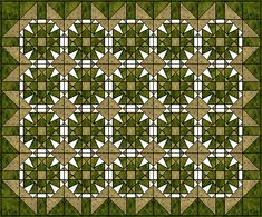 Maltese Cross & Star paper piecing quilt pattern