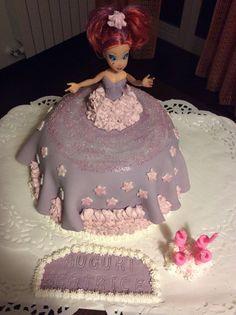 Torta Barbie in pdz con crema al cioccolato