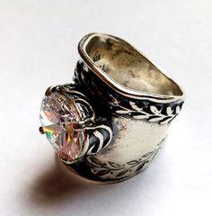 Mother gift Sterling silver ring set Israeli designer by Bluenoemi