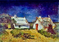 Vincent Van Gogh - Two cottages in Saint-Marie-de la -Mer - 1887.