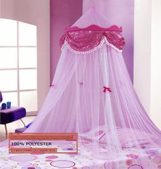 Perfect Princess Bed Canopy Mosquito Net With Sequins By Sid Trading