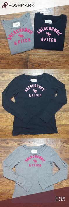 Abercrombie & Fitch Set of 2 Long Sleeved Shirts 1 navy blue long sleeved top and 1 gray long sleeved too. Gently worn, no flaws or stains. Abercrombie & Fitch Tops Tees - Long Sleeve