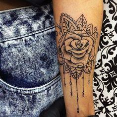 Bildergebnis für mandala rose tattoo