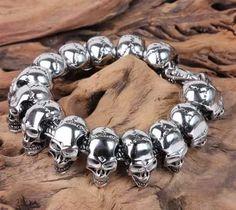 884707a3a66b Мы поможем купить дешевле - Hot Style Punk Rock Skull Charm Stainless Steel.