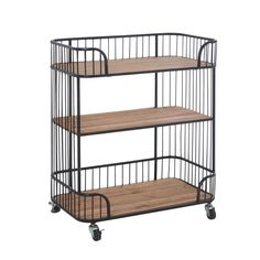Illman Kitchen Trolley with Solid Wood Top Williston Forge Silverware Tray, Kitchen Trolley, Drawer Dividers, Low Shelves, Wine Storage, Types Of Wood, Natural Wood, Door Handles, Solid Wood