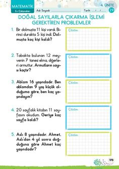 1. Sınıf Konu Anlatım EV ÇALIŞMALARI First Grade, Grade 1, Homeschool Math, Math For Kids, Worksheets, Preschool, Looking Up, Education, Reading