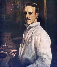Autorretrato de  José Benlliure Ortiz, conocido como Peppino, (Roma, 1884 - Valencia, 1916) pintor español. Hijo de José Benlliure y Gil