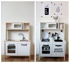 ikea duktig kitchen diy ikeahack barnad t pinterest kitchens playrooms and room. Black Bedroom Furniture Sets. Home Design Ideas
