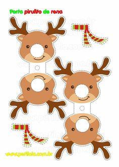 Turn Chupachups lollipops into Christmas characters. Christmas Activities, Christmas Crafts For Kids, Christmas Printables, Holiday Crafts, Christmas Decorations, Christmas Ornaments, Lollipop Decorations, Christmas Gift Box, Christmas Paper
