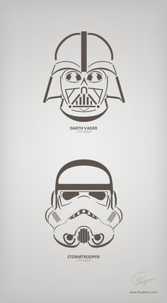 Vader & Stormtrooper made out of fonts by floydworx
