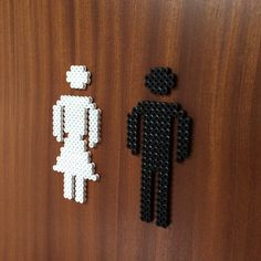 Toilet sign hama perler beads by janchik77