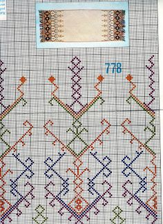 A collection of embroidery patterns for all ocassions Folk Embroidery, Vintage Embroidery, Cross Stitch Embroidery, Embroidery Patterns, Cross Stitch Designs, Cross Stitch Patterns, Diy Crafts Love, Greek Pattern, Geometric Pattern Design