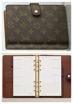 Louis Vuitton Agenda With 2014 Calendar And Credit Card And Receipt $385