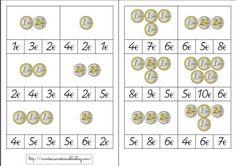 Cartes à choix multiples : euros