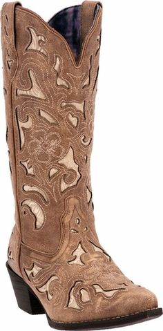 Ariat Women&39s Good Times Antique Brown Punchy Square Toe Western
