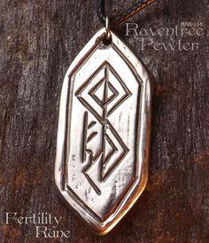 Fertility Rune Pewter Pendant Nordic Norse by RaventreePewter Nordic Symbols, Rune Symbols, Mayan Symbols, Viking Symbols, Egyptian Symbols, Ancient Symbols, Fertility Tattoo, Art Fertility, Fertility Symbols