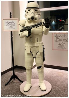 Life size Storm Trooper Cake. I just may get this for my Star Wars loving son on his wedding day. His bride MUST like Star Wars if she wants to marry him anyway so...