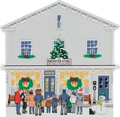Brewster Store At Christmas | The Cat's Meow Village