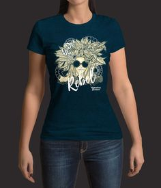 Rebel Girl T-Shirt from Rebellion Sixteen Cultural Events, Good Music, Rebel, T Shirts For Women, Mens Tops, Fashion, Moda, Fashion Styles, Fashion Illustrations