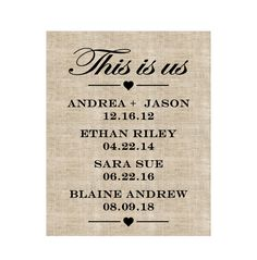 Excited to share this item from my shop: This is Us Sign, This is Us TV Show, Adoption Gift Personalized Valentines Day Gift for Her, Mothers Day Gift, Anniversary Gifts for Men