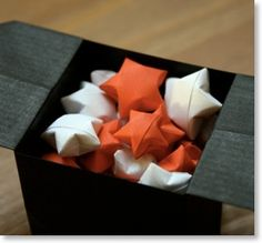 Les décorations de Noël à faire soi-même : Les étoiles chinoises du bonheur | Chinois, Noël, Traditionnel, Décoration, Difficulté: ★ | Senbazuru – せんばづる