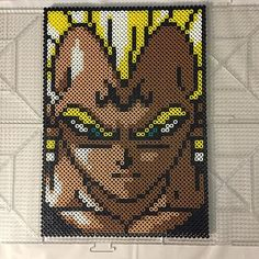 Vegeta Dragon Ball perler beads by Jake Tastic