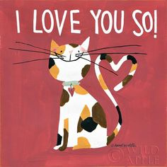 Happy Cats - I Love You So! by Anne Tavoletti #artprints