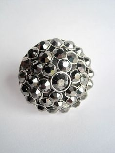 Gorgeous Round Drawer Knob with Black Crystals Limited by DaRosa, $25.00