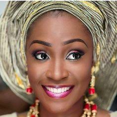 Mua @lbvmakeovers #traditionalbride #gele #traditionalwedding #beads #naijawedding