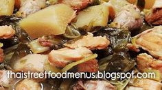 how to make Chinese Vegetable Soup menu (Tom-Chub-Chai) Chinese Vegetable soup with pork and chicken recipes Ingredients of Chinese V. Chinese Vegetable Soup, Chinese Vegetables, Crockpot Recipes, Soup Recipes, Salad Recipes, Chicken Pork Recipe, Chicken Recipes, Recipes With Beef And Vegetables, Soup Menu