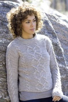 Briar Pullover - nice cable (XS-XL) -free Tahki Stacy Charles