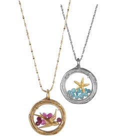 Starfish and Bird Lockets, Uncommon Goods.  I like the Starfish more, but they're both so pretty.