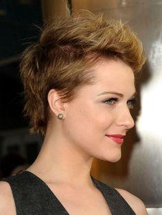 Evan Rachel Wood's lovely pixie cut.