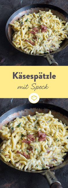 Der Seelenschmeichler aus dem Allgäu weiß, wie er dich verwöhnt – mit viel w… The soothing soul from the Allgäu knows how he spoils you – with lots of spicy Emmentaler, crispy bacon and hand-planed spaetzle. Casserole Recipes, Pasta Recipes, Cooking Recipes, Healthy Recipes, Spatzle, Sicilian Recipes, Greek Recipes, Good Food, Yummy Food