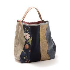 Bag Large bucket bag Rosemary, Canvas bag, Handbag, Shoulder bag, Top handle bag, Leather handle